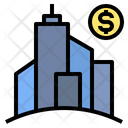 Bank Building Enterprise Icon