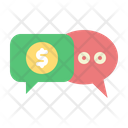 Finance Chat Support Coin Icon