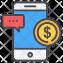 Money Online Phone Icon