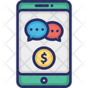 Finance Chat App Finance Communication Finance Media Icon