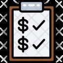 Finance Checklist Icon