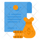 Finance Contract Icon