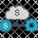 Finance Database Financial Cloud Internet Trade Market Icon