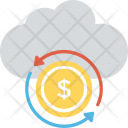 Financial Cloud Web Icon