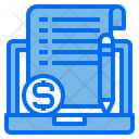 Laptop Currency File Icon