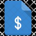 Dollar File Document Icon