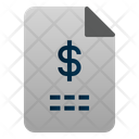 Finance File Paper Money Icon