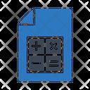 Calculation File Document Icon