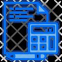 File Document Calculator Icon