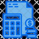 Calulator File Money Icon