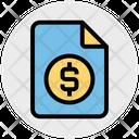 Finance File Money Dollar Icon