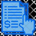 Finance File Document Icon
