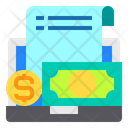 Laptop Accounting File Icon