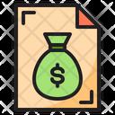 Money Bag Document Icon