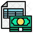 Finance File Finance Report Bookkeeping Icon