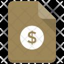 Finance Dollar File Icon