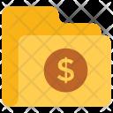 Dollar Folder Data Icon