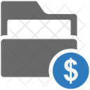 Seo Folder Dollar Icon