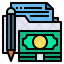 Finance Folder Accounting Folder Money Icon
