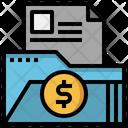 Finance Folder File Storage Data Storage Icon