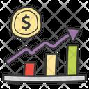 Bar Chart Finance Graph Statistical Presentation Icon