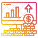 Money Stack Growth Computer Icon