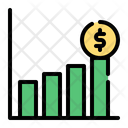 Growth Bank Coin Icon