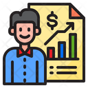 Finance Growth Businessman Report Icon