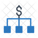 Dollar Chart Connection Icon