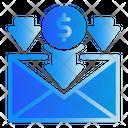 Arrow Mail Money Icon
