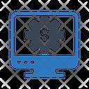 Finance Dollar Setting Icon