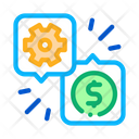 Gear Dollar Quote Icon