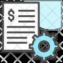 Finance Management Document Gear Icon