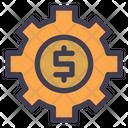 Finance Management Dollar Setting Management Icon