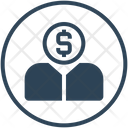 Crowdfunding User Money Icon