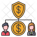 Network Connection Dollar Icon