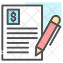 Finance Paper Contract Paper Document Icon