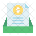 Finance Paper Document Coin Icon