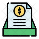 Document Bank Coin Icon