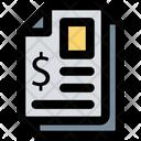 Finance Paper Finance Report Bill Icon