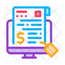Finance Paper Online Bill Electronic Icon