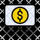 Presentation Board Dollar Icon