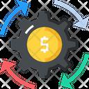 Gear Dollar Setting Icon