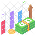 Business Growth Finance Growth Data Growth Icon