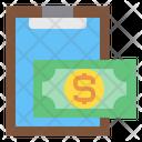Clipboard Money Finance Icon