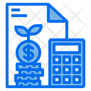 Calculator Money Stack Document Icon