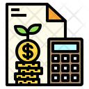 Calculator Money Stack Document Icon