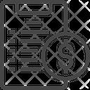 Dollar Clipboard Money Clipboard Icon