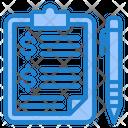 Finance Report File Clipboard Icon