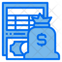 Finance Report Finance File Bookkeeping Icon